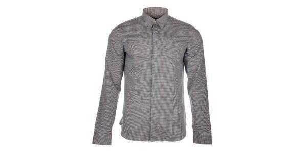 Pánská černobílá kostičkovaná košile Calvin Klein