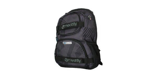 Šedý batoh značky Meatfly o objemu 25 litrů