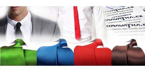 Stylová SLIM kravata včetně poštovného