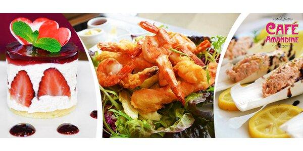 Valentýnské menu pro dva v Café Amandine