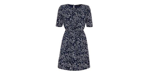 Dámské modré květinové šaty Iska