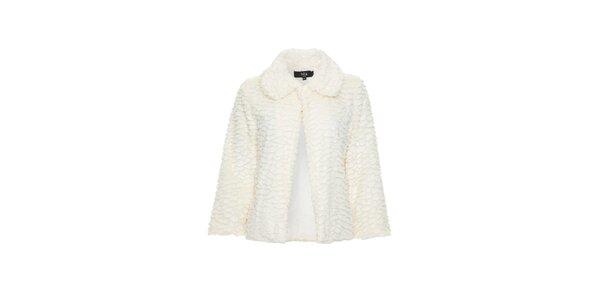 Dámský krémově bílý kabátek Iska