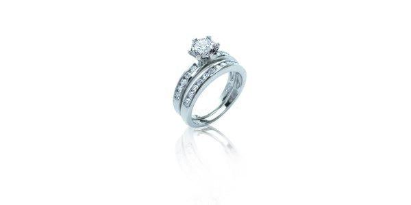 Dámský set stříbrných prstenů s zirkonem La Mimossa