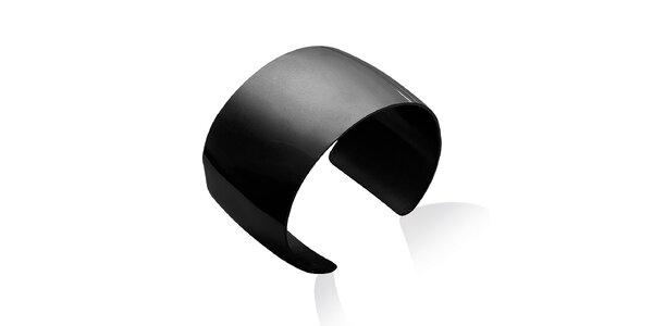 Dámský jednoduchý černý ocelový náramek La Mimossa