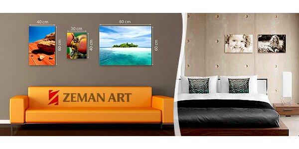 Tisk fotografie na malířské plátno na dřevěném rámu