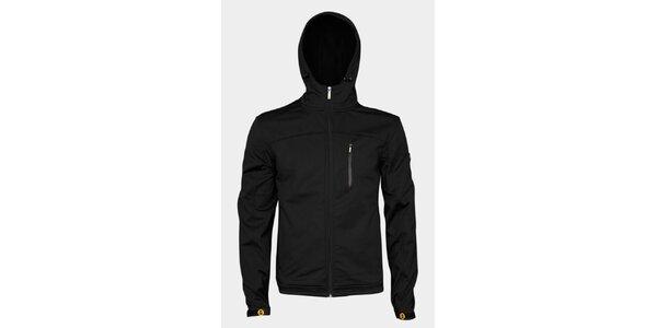 Pánská černá softshellová bunda Sweep s kapucí