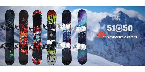 Kvalitní snowboard 5150 + vázání