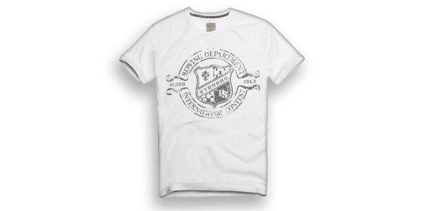 Pánské bílé triko s veslařským potiskem Paul Stragas