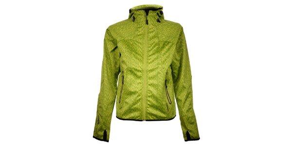 Dámská světle zelená puntíkovaná bunda Trimm Nelli
