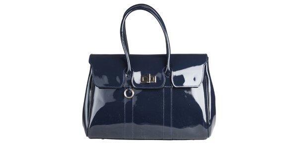 06bf6b4d98c Dámská modrá lakovaná kabelka Made in Italia