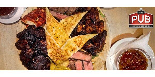 Masová mísa pro 4 osoby včetně pečiva a omáček