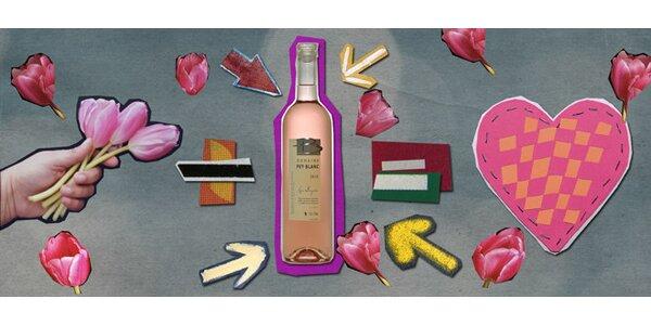Luxusní francouzské víno z Provence nejen pro zamilované.