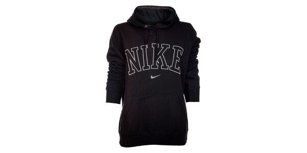 Dámská černá mikina Nike s kapucí a bílým logem