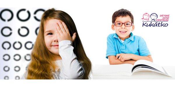 Vyšetření zraku pro děti bezkontaktní metodou