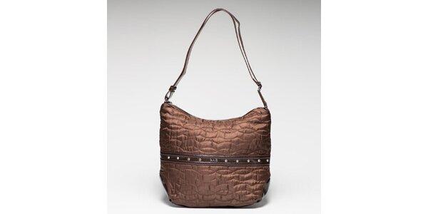 Dámská bronzová látková taška prošívaná Gas