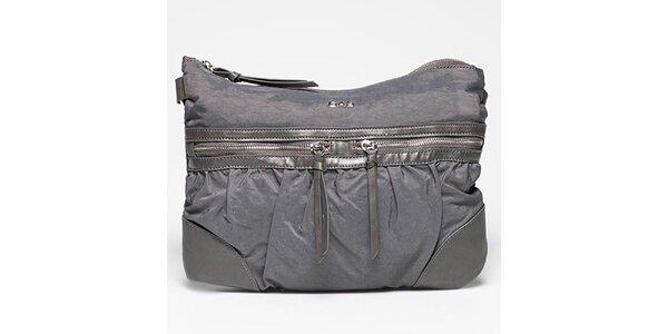 Dámská šedá kabelka s řadou kapsiček Gas
