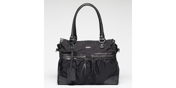 Dámská černá kabelka s visačkou Gas
