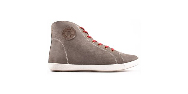 Dámské šedé boty se šněrovaním Les Tropeziennes