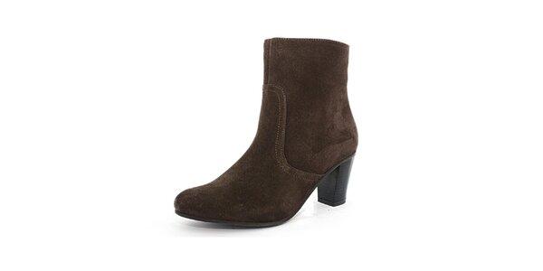 Dámské hnědé semišové boty Toscania