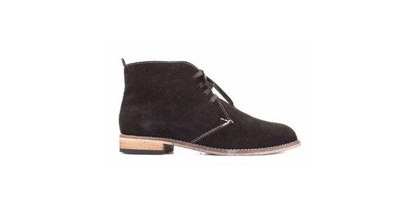 Dámské černé semišové boty Toscania