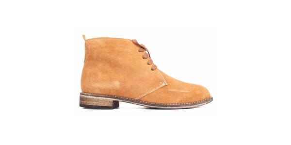 Dámské velbloudí semišové boty Toscania
