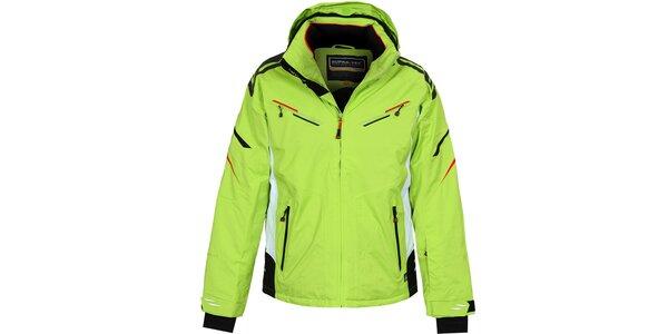Pánská delší zelená lyžařská bunda Bergson