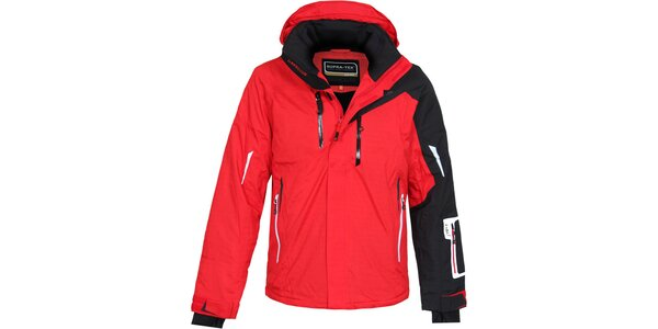 Pánská červeno-černá lyžařská bunda Bergson