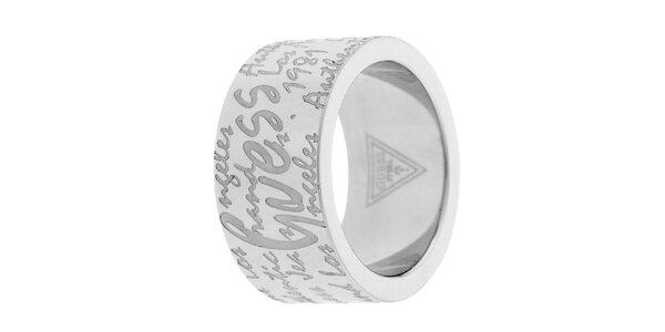 Dámský prstýnek s nápisy Guess