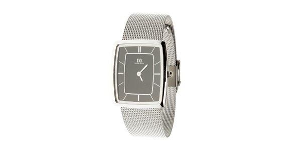 Dámské ocelové hodinky Danish Design s černým ciferníkem