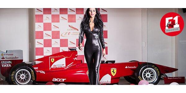 3 kola či celá hodina na trenažéru Ferrari 150° Italia