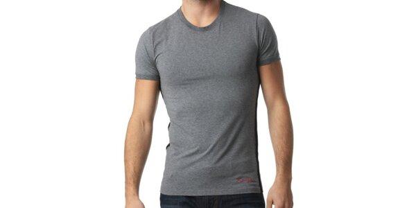 Pánská tmavě šedé tričko s krátkým rukávem Kenzo