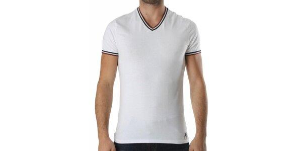 Pánské bílé tričko s véčkovým výstřihem Kenzo