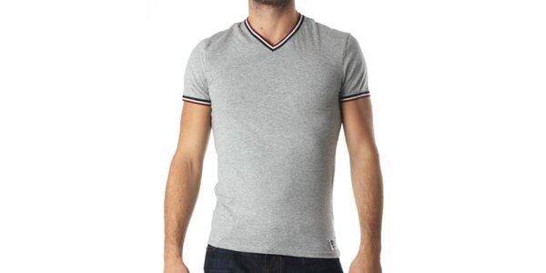 Pánské šedé tričko s véčkovým výstřihem Kenzo