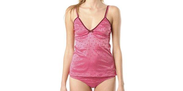 Dámská lesklá růžová košilka Kenzo