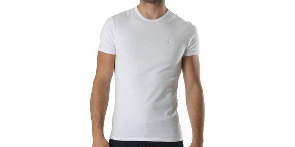 Pánské bílé triko s krátkým rukávem a výšivkou Kenzo