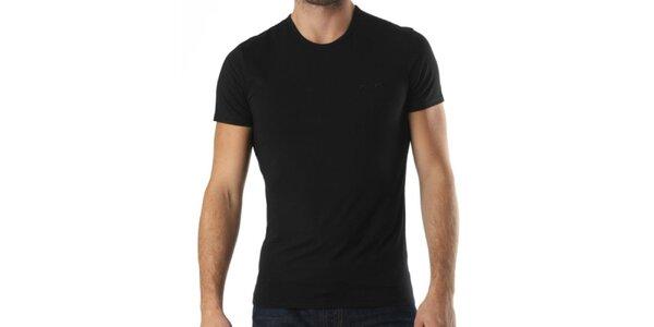 Pánské černé triko s krátkým rukávem a výšivkou Kenzo