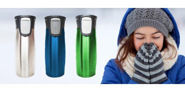 Kvalitní designová cestovní termoska - termohrnek 2v1 - CONTIGO 470 ml