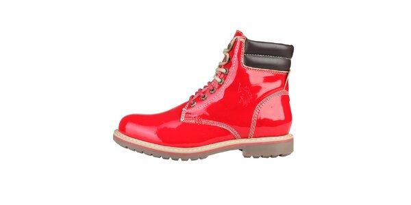 Pánské červené kotníčkové boty U.S. Polo