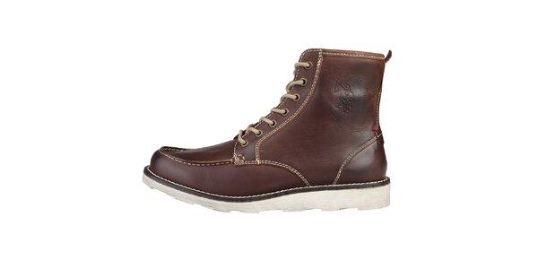 Pánské hnědé kotníčkové boty U.S. Polo