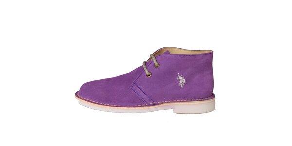 b99b69ef095 Dámské fialové semišové boty U.S. Polo