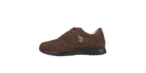 Pánské hnědé semišové šněrovací boty U.S. Polo