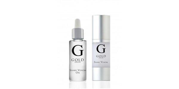 GOLD SERUMS SNAKE VENOM pleťový olej 30ml + GOLD SNAKE VENOM sérum 30ml