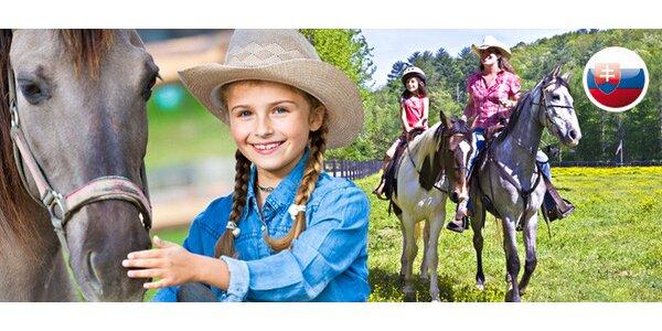6denní dětský tábor s jízdou na koni a angličtinou