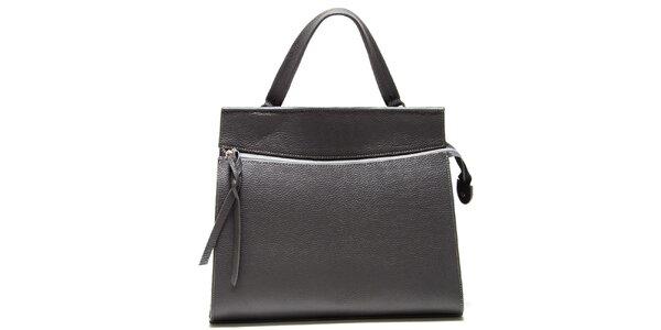 Dámská šedá kabelka s horizontálním zipem Isabella Rhea