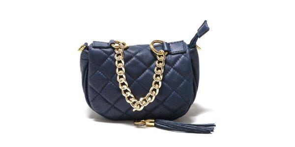 Dámská modrá prošívaná kabelka Isabella Rhea