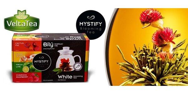 Luxusní set 4 ks prémiových kvetoucích čajů Mystify Blooming Tea s konvičkou -…