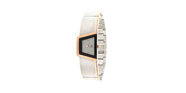 Dámské šedo-zlaté titanové hodinky Danish Design