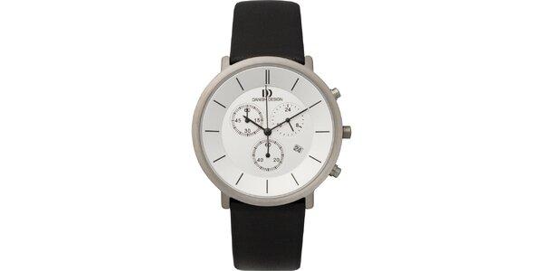 Pánské analogové hodinky s bílým ciferníkem Danish Design