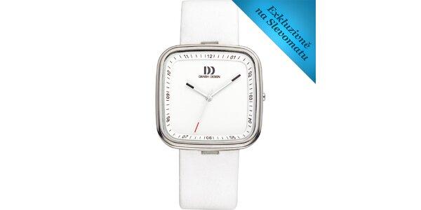 Dámské bílé analogové hodinky Danish Design