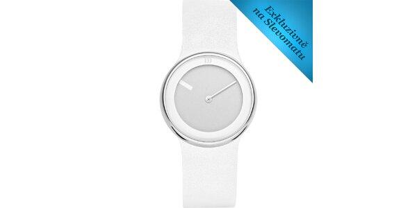 Dámské bílé minimalistické hodinky Danish Design